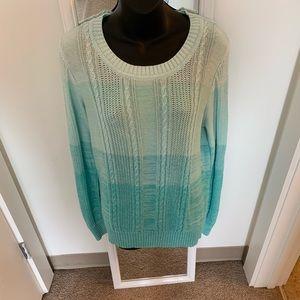 Sweaters - Blue Ombré Sweater